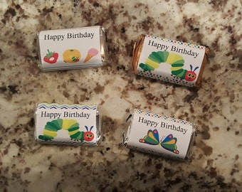 Hungry Caterpillar Happy Birthday Mini Candy Bar Wrappers mms003