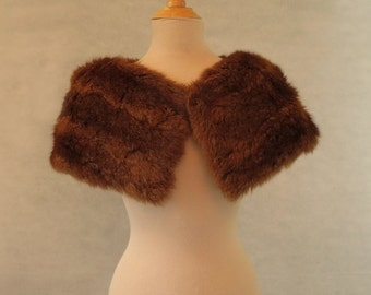 Genuine Fur Stole, Wrap or Capelet
