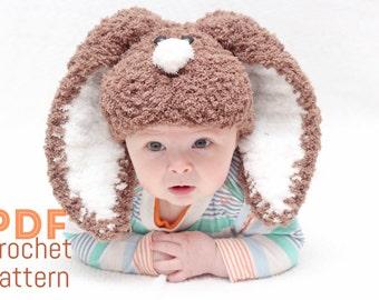 PDF crochet pattern EASTER  hat with floppy ears,easter bunny