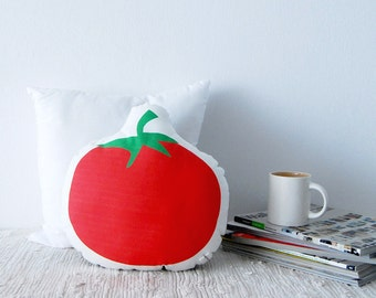 Red tomato pillow, soft cushion, kitchen pillow, colorful deco, home decoration cushion, sofa pillow, vegetable pillow, diet, nutrition