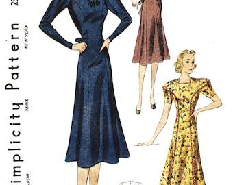 Simplicity 2916 Misses' Vintage 1930s Dress Sewing Pattern