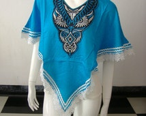 Poncho Embroider Breastfeeding Nursing Cover Top - Maternity
