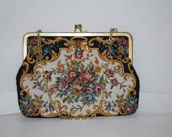 Walborg Vintage Tapestry Handbag