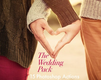 The Wedding Pack - 15 Photoshop Actions INSTANT DOWNLOAD