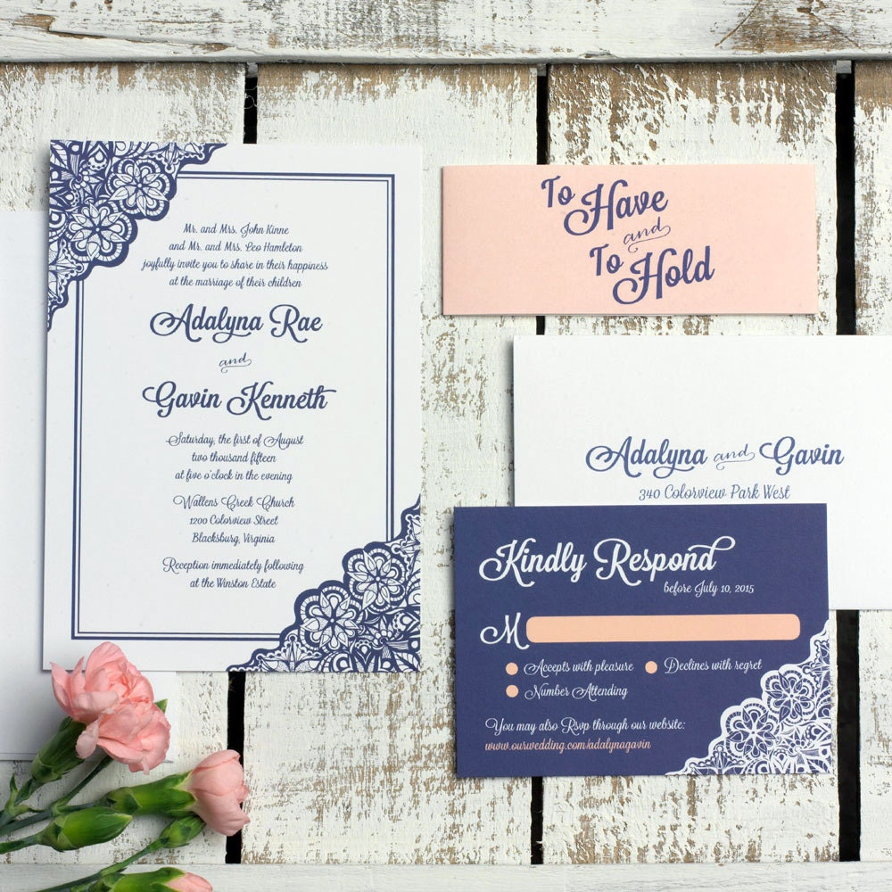 Samples Of Wedding Invites: Lace Wedding Invitation SAMPLE SET Elegant Wedding Invitation