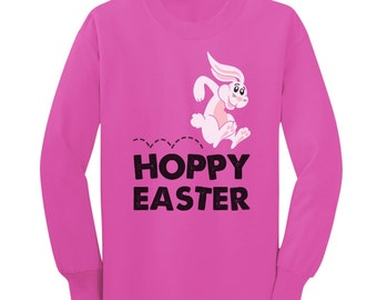 Hoppy Easter Bunny Toddler-Kids Long Sleeve T-Shirt