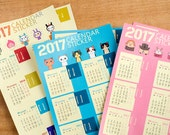 2017 Index Calendar Sticker Set for Traveler's Notebooks and planners - 12 months, 3 styles