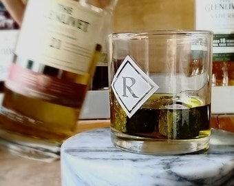 Whiskey Glasses Gift Set, Whiskey Set , Monogram Glasses, Double Old Fashioned Glasses, Rocks Glasses