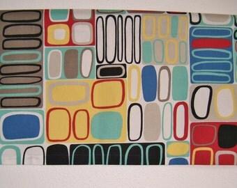 Mid Century Modern Valance With Lining, Geometric, Contemporary, Abstract Art, Kandinsky, Retro Camper Valance, Window Valance, Mod Valance