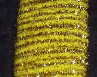 Yellow & gold Wireless chenille stem,mini garland,10 yds/pkg,12MM wide,shiny tinsel,Easter,Christmas crafts, holiday crafts,ornaments