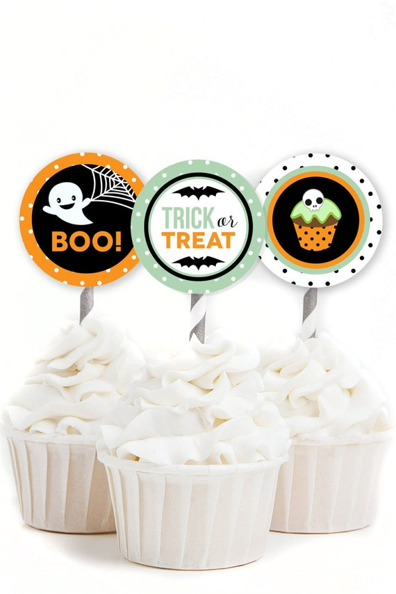 Halloween Cupcake Toppers, Kids Halloween Party, Halloween ...