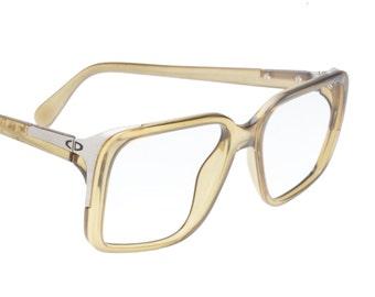 Christian Dior 2084 Monsieur 1970s squared oversized optyl resin colour eyeglasses frames made in Germany