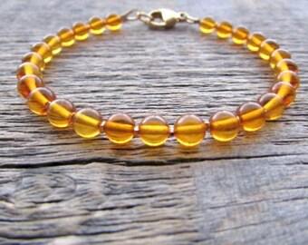 Baltic Amber Bracelet, Genuine Amber Bracelet, Natural Amber Bracelet, Amber Jewelry, Amber Accessory, Chakra Bracelet, Healing Bracelet