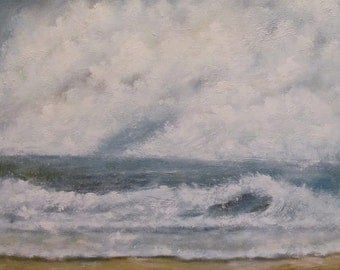 """Seascape on canvas 36 x48 in  """"Very Often"""""""