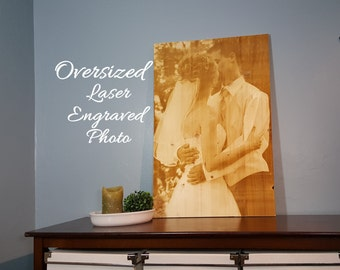 Gift Certificate Optional - Photo Engraved on Wood