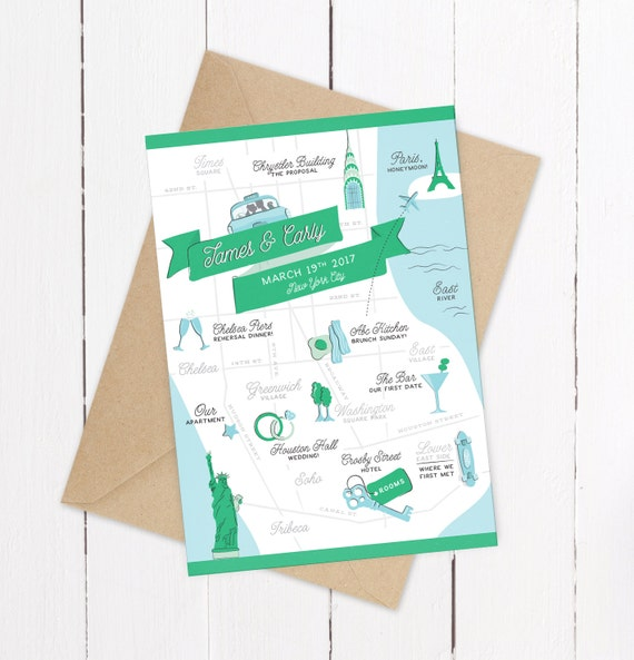Custom Wedding Invitation Map Example New By