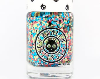 Mermaid Glitter Nail Polish - Pink/Blue/Green Nail Polish