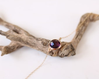 Amethyst Bracelet - Charm Bracelet - Gemstone Bracelet - Gold Bracelet - Stone Bracelet - Arm Candy - Purple Quartz - Stacking Bracelet
