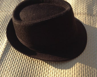 Black Fedora Hat.