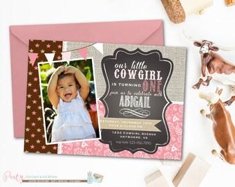 Cowgirl Birthday Invitation, Paisley Birthday Invitation, Cowgirl Birthday Party, Western Birthday Invitation