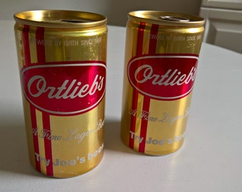 Vintage Ortlieb's Lager Beer Can --- Retro 1960's 1970's Philadelphia Brewery Tavern Pub Bar Classic Collectable USA Oktoberfest Home Decor