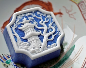 Oriental Pagoda Temple with Plum Tree Soap