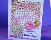 Wedding Handmade Card, Love, Congratulations on your Wedding Day Card