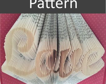 Folded Book Pattern - Love - Valentine's Day Gift - Wedding - Anniversary
