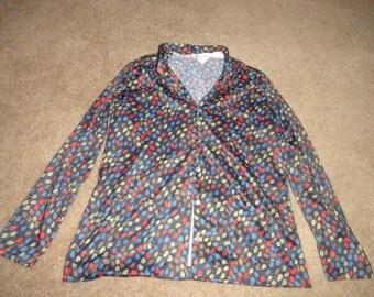 Size 20 blouse 44 inch Bust 31 in leng buttons PI International-blouse- top- vintage tops-vintage blouses- -plus size clothing- plus size-