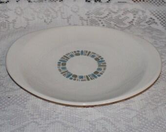 Temporama platter Canonsburg pottery Dura gloss