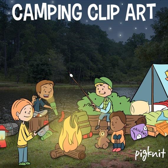 Camping Clip Art Summer Kids Clip Art Sleeping Bag Clip by ...