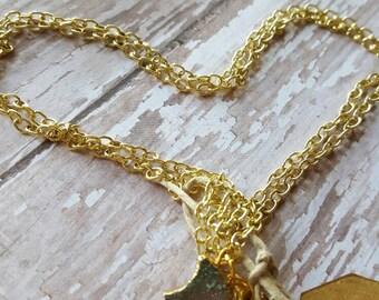 Lil' Moon - Chalcedony - Druzy - Drusy - Gold Necklace - Moon Necklace - Raw Crystal - Boho Jewelry - Hippie Jewelry - Hipster Jewelry