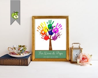 Mother's day printable, gift for mom, gift for Grandparents, CHRISTMAS, Child's Handprint Tree, Kids Craft Project, Teacher appreciation