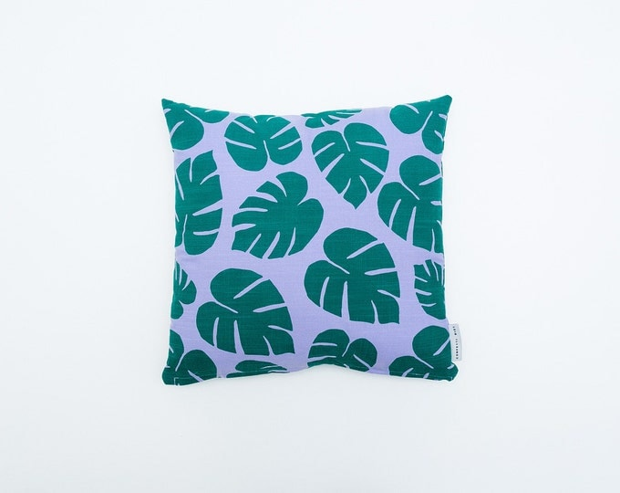 SALE - 30%off - Tropical Leaf Print Pillow - 16x16
