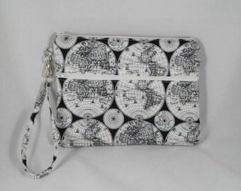Black and white World Map iPad  mini case