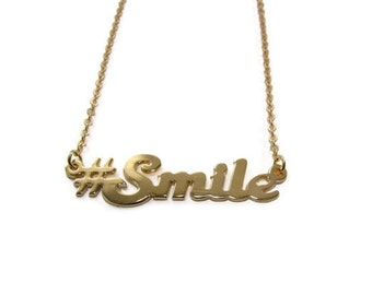 Hashtag necklace. Twitter necklace. Personalized gold necklace. #Namenecklace. Gold hashtag necklace. Gold twitter necklace. Personalized