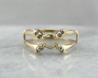 fairytale style butterfly motif diamond engagement ring enhancer lj877e d