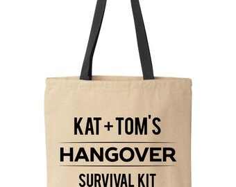 Hangover Kit Bags | Custom Hangover Survival Kit | Wedding Hangover Tote Bag | Custom Hangover Bags
