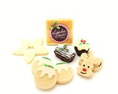 Festive Christmas Gift Treat Box, Chocolate Cake Truffle Pop, Scottish Tablet Fudge Candy