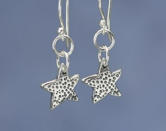 Sterling Silver Star Earrings – Sterling Silver Dangle Earrings – Sterling Silver Earrings Star – Sterling Star Earrings – Sterling Earrings