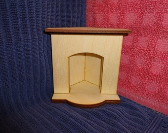 Corner Fireplace miniature dollhouse furniture