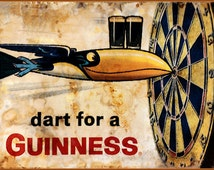 Vintage Poster Art Print Guinness Toucan Dart For A Guinness Retro Style Advertising Free US Post Low EU Postage