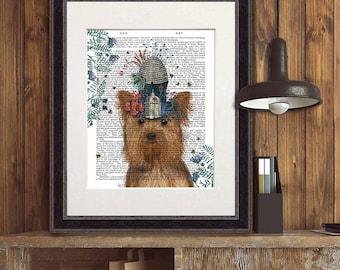 Yorkshire Terrier Print Milliners Dog - yorkie print yorkshire terrier art yorkie art yorkie gift yorkie owner yorkie lover yorkie mom