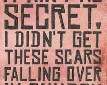 It Ain't No Secret... Read Dead Redemption Inspired 6 X 4 Quote Print. Artwork by Jade Jones