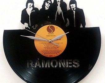 The Ramones Wall Art -Vinyl LP Record Clock or Framed -Great Rock'n'Roll Gift
