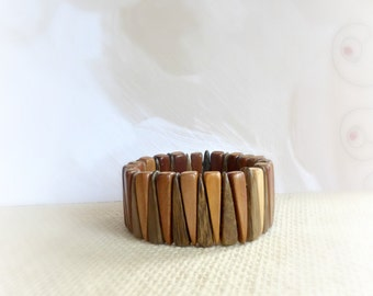 Geometric natural  wood bangle bracelet wood jewelry  gift for her gift for women   under 20