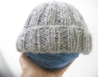 Baby Knitted Hat. Newborn Knit Hat. Size: Up to 6 months. Ready to Ship.