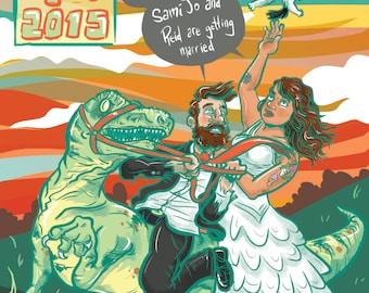 Custom Save the Date Illustration / Postcard