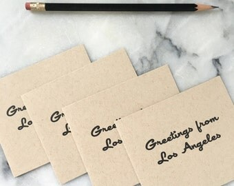 Greetings From Los Angeles, set of 4 cards and envelopes