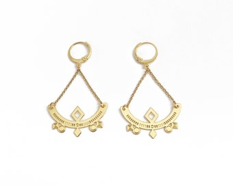 """Geometric earrings gold gold end """"Archi"""""""